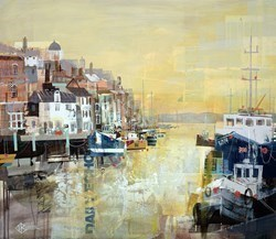 Sundown, Poole Harbour by Tom Butler -  sized 30x26 inches. Available from Whitewall Galleries